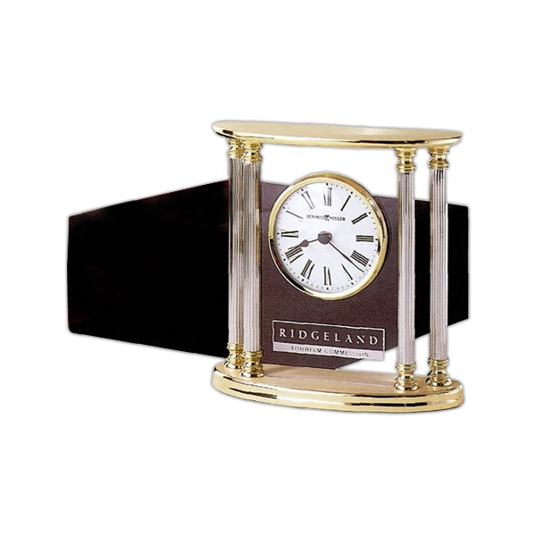 New Orleans - Solid Brass Clock With Polished Silvertone Columns Photo
