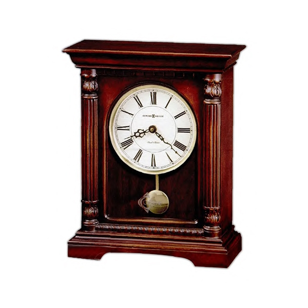 Langeland - Bracket-style Mantel Clock Features Lightly Distressed Cherry Finish On Hardwoods Photo
