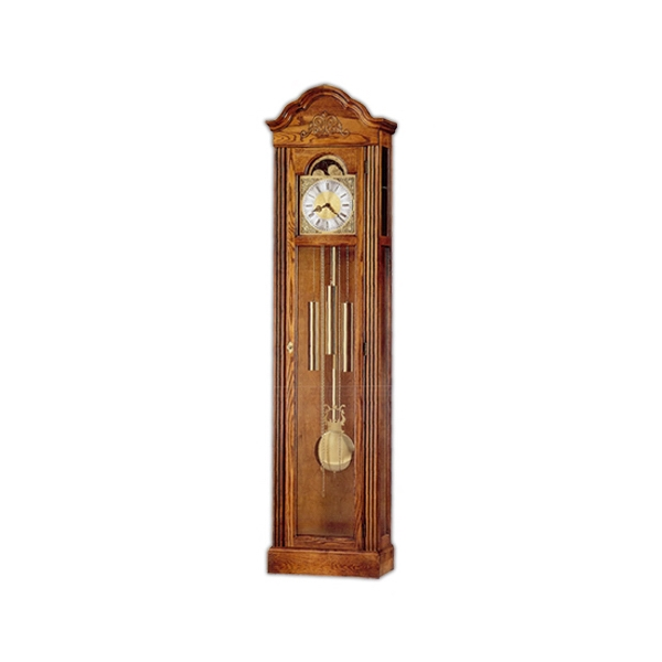 Ashley - Floor Clock Finished In Oak Yorkshire On Select Hardwoods And Veneers Photo