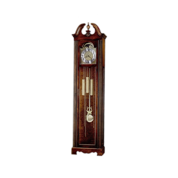Princeton - Clock With Polished Brass Dial Features Elaborate Corner Spandrels Photo