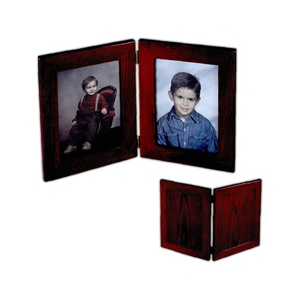 "Rosewood Book Frame Ii - High Gloss Rosewood Finish Frame On Select Hardwoods, Holds Two 5"" X 7"" Photos Photo"