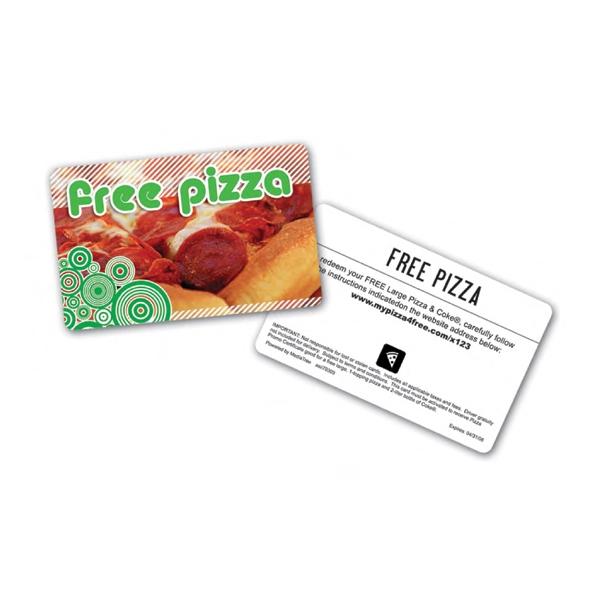 Prepaid Pizza Card
