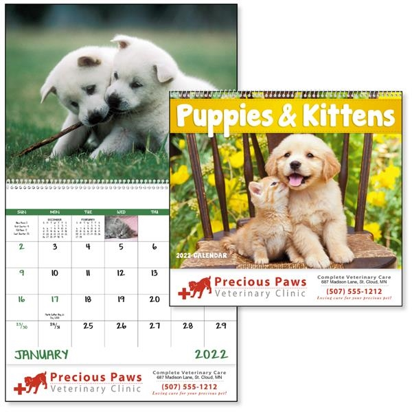 Spiral Puppies & Kittens Lifestyle 2022 Appointment Calendar