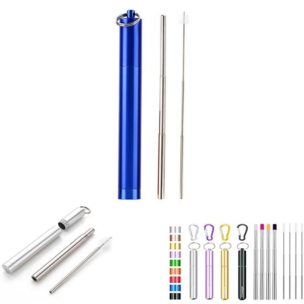 Reusable Metal Straw Set