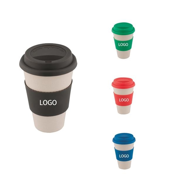 Bamboo Fiber Cup With Silicone Cover
