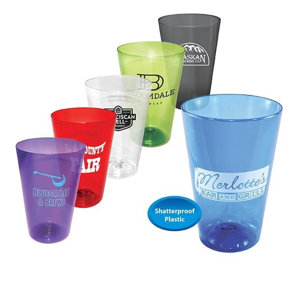 16 oz. Plastic Pint Glass