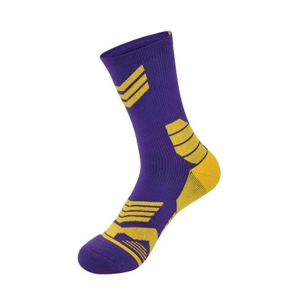 Full Color Basketball Socks w/ 144 Needle Jacquard Weave