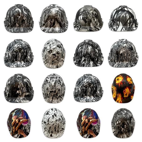 Pyramex Cap Style OSHA Hard Hats, Custom Tattoo Designs