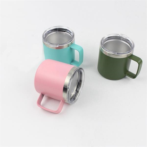 14 oz Stainless Steel Cup with Handle