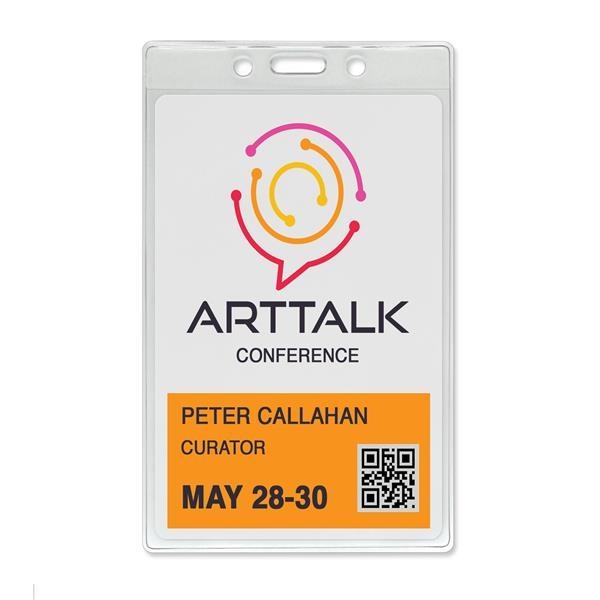Premium Vinyl Vertical Event-Size Badge/Credential Holders