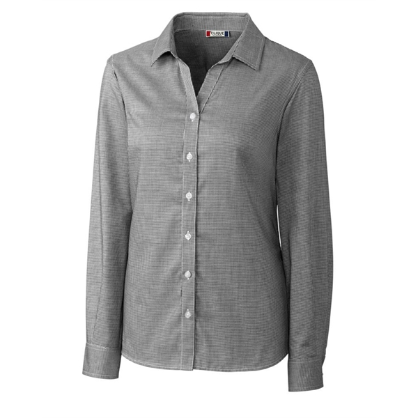 Clique L/S Granna Stain Resistant Houndstooth