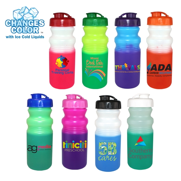 20 oz. Mood Cycle Bottle with Flip Top Cap, Full Color Digit