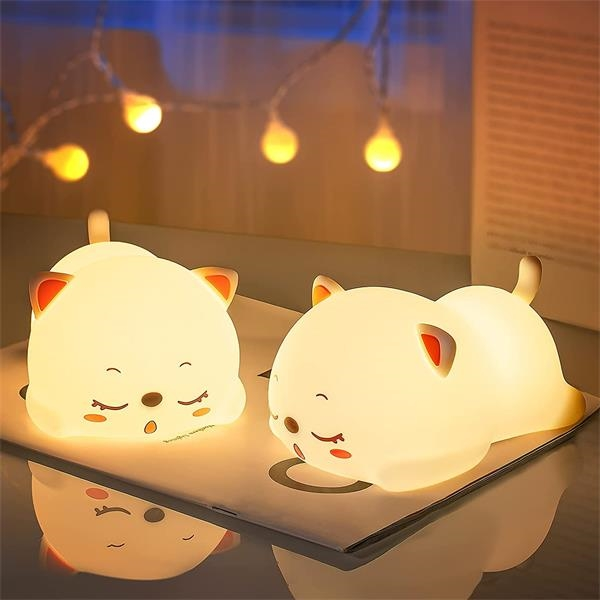 Cute Color Changing Silicon Night Light for Kids