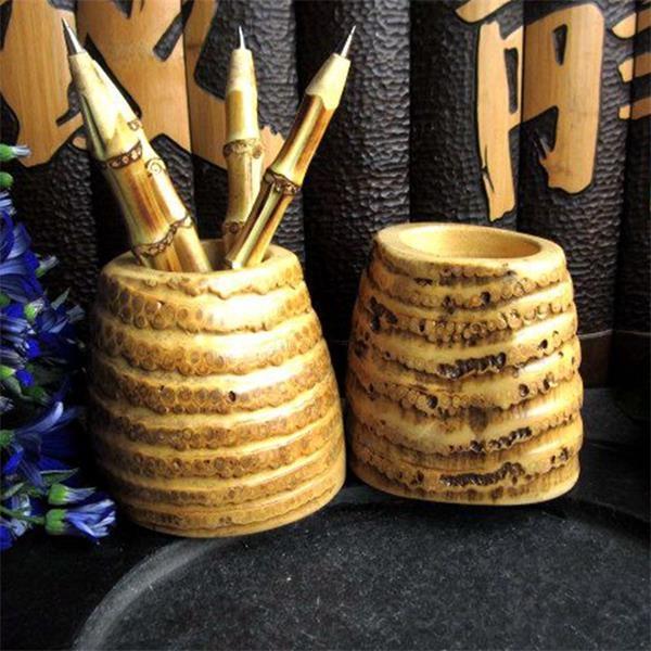 Bamboo Root Pen Holder