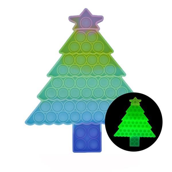 Luminous Bubble Christmas Tree Push Pop Sensory Toys
