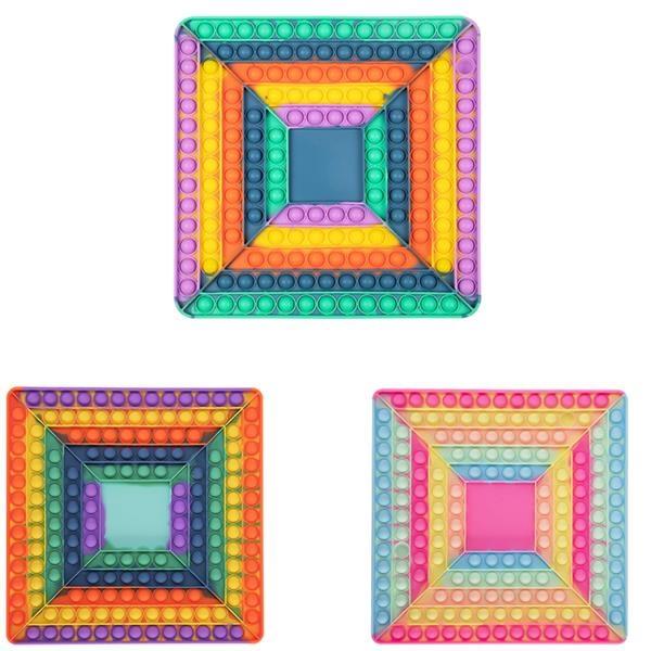 Square Silicone Round Game Board Fidget Push Pop Toys