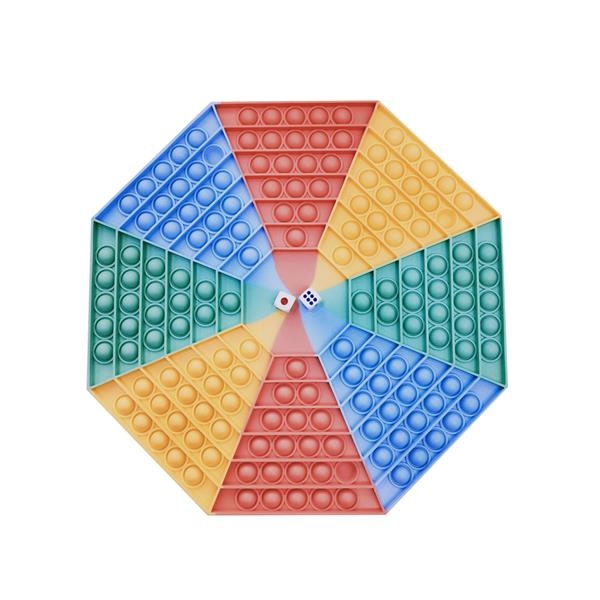 Anti-Stress Silicone Octagon Dice Game Board Push Pop Toy