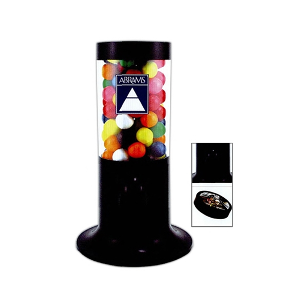 Gumballs For Black Tube Shaped Candy Dispenser Photo