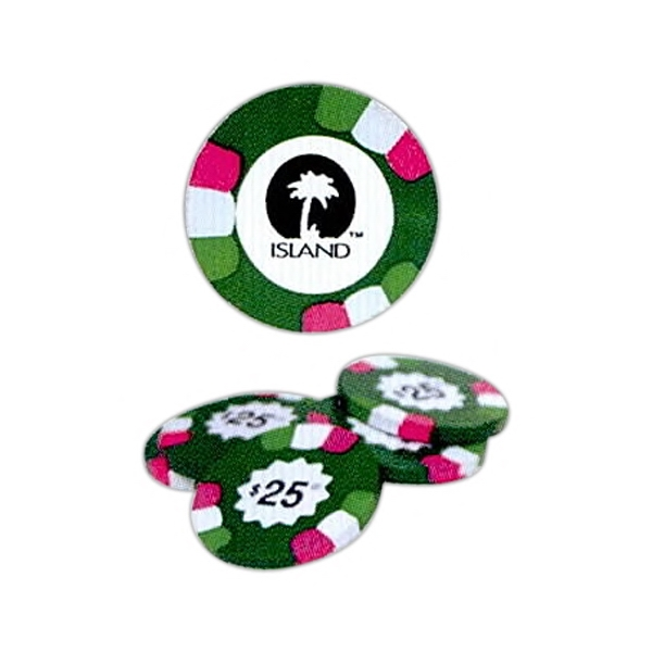 Milk Chocolate $25 Poker Chips Photo