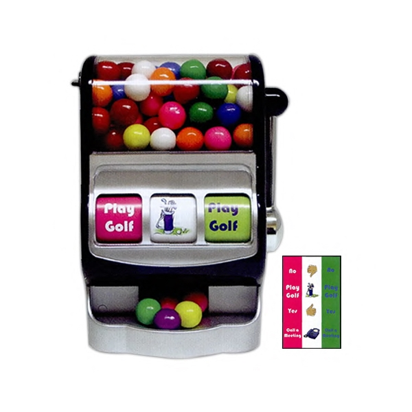 Gumballs For Decision Maker Slot Machine Dispenser In Black With Silver Photo