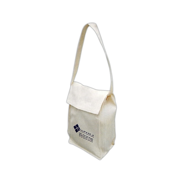 Natural Color Lunch Bag, Made Of 100% Thick Cotton Material Photo