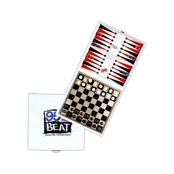 Magnetic 3-in-1 Game Set With Chess, Checkers, And Backgammon Photo