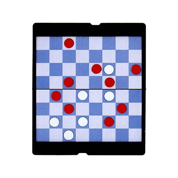 Checkers Game With Foldable Magnetic Board Photo