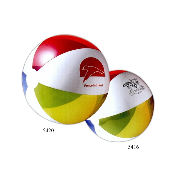 "Inflatable Heavy Gauge Vinyl Classic Translucent Beach Ball, 16"" Photo"