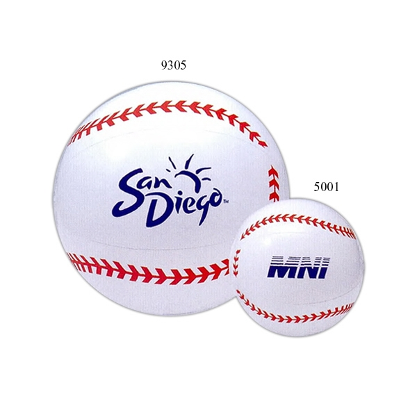 "Inflatable 16"" Beach Ball With Baseball Design Photo"