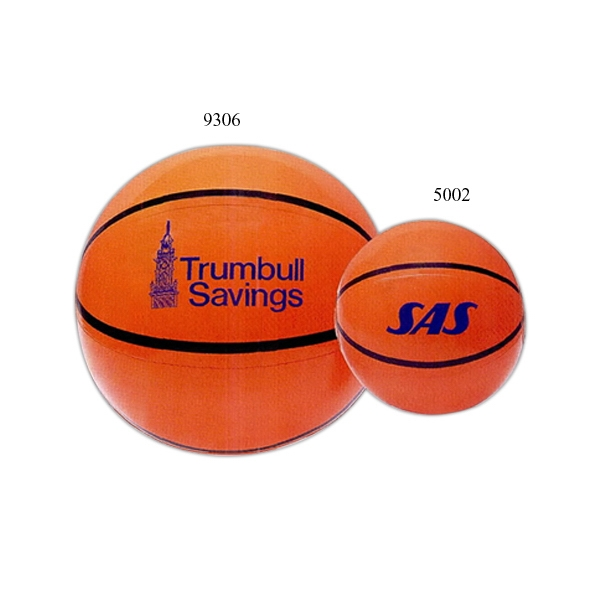 "Inflatable 16"" Beach Ball With Basketball Design Photo"