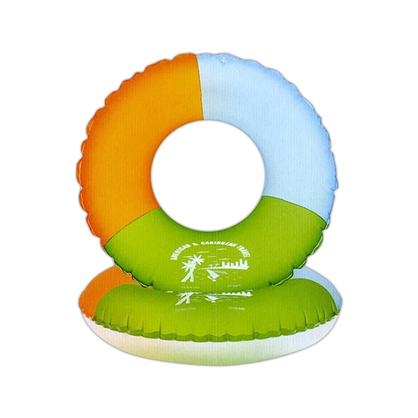 Heavy Vinyl Inflatable Swim Ring, Frosted Colors Photo