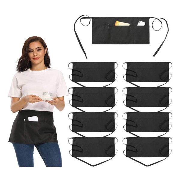 Waist Aprons with 3 Pockets