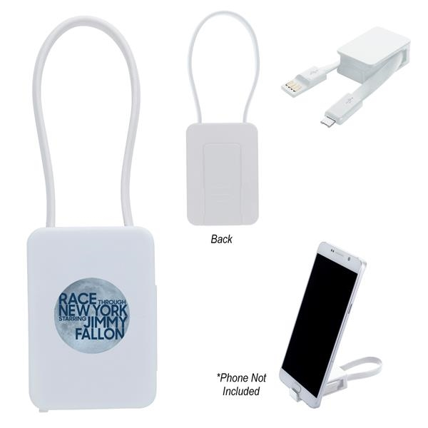 2-In-1 Charging Cable With Phone Stand
