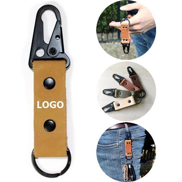 Leather Carabiner Zinc Alloy Key Holders