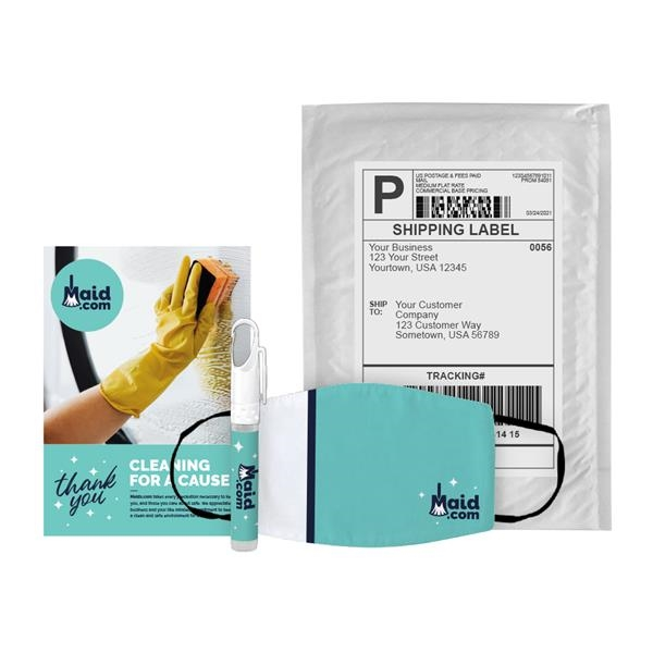 Phoenix 2-Ply Dye-Sub Face Mask and 10 mL CleanZ Pen Sanitiz