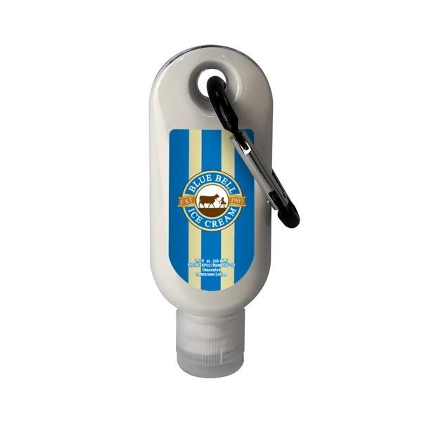 1.9 oz. SPF 30 Sunscreen in Clear Bottle w/ Carabiner & Clea