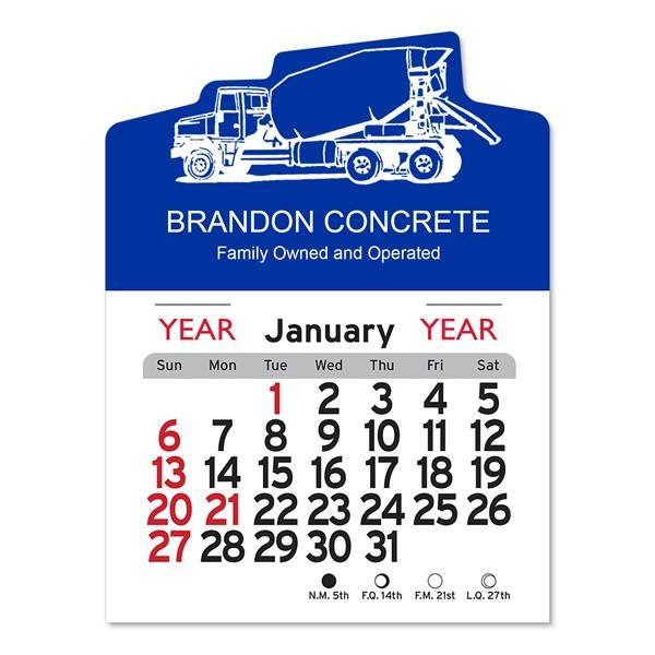 Cement Truck Peel-N-Stick® Calendar