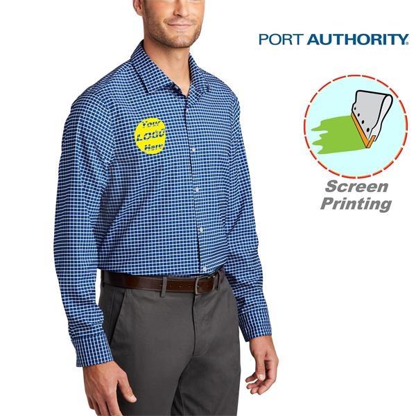 Port Authority City Stretch Shirt w/ Screen Print 3.7 oz.