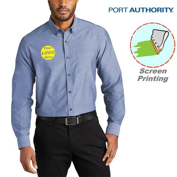 Port Authority Long Sleeve Chambray Easy Care Shirts 2.9 oz.