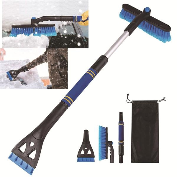 3 in 1 Ice Scraper and Snow Brush for Car Windshield