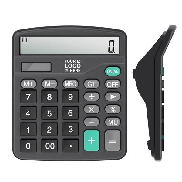 12-Digit Standard Function Desktop Calculator Solar Power