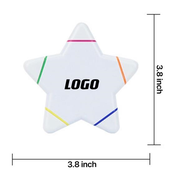 5-In-1 Star Shape Watercolor Highlighter Pens
