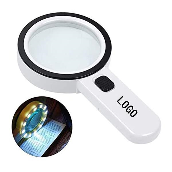 Portable Magnifying Glass with LED Light