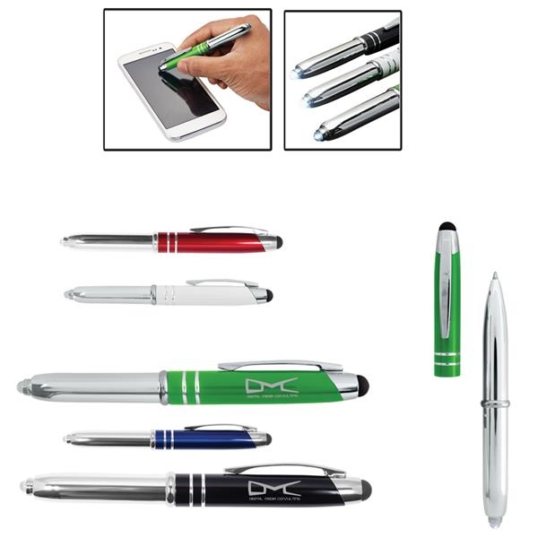 Executive 3-in-1 Metal Pen Stylus with LED Light
