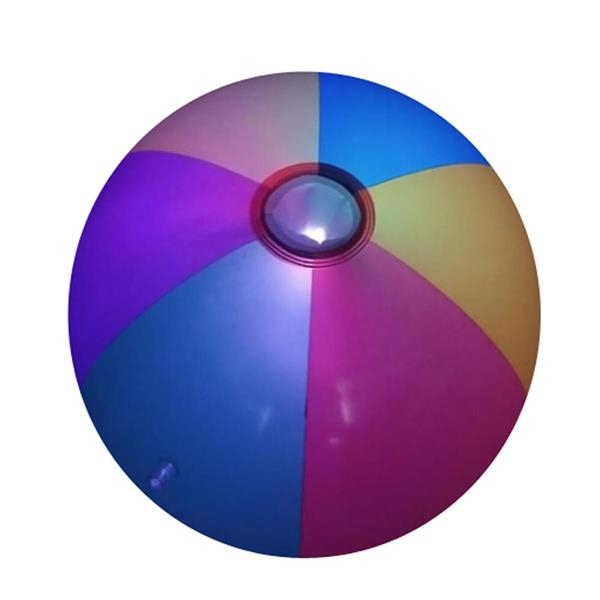 Luminous colored PVC ball