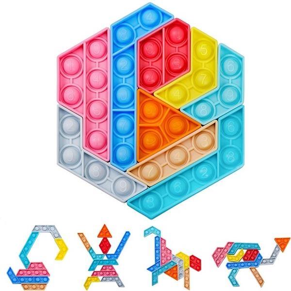 Jigsaw  Push Pop Puzzle Toy