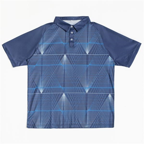 Athleisure Men's Raglan Pique Polo w/ Custom Sublimation 75D