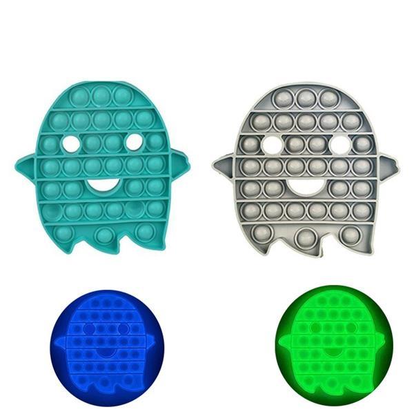 Halloween Push Pop Bubble Fidget Luminous Sensory Toy