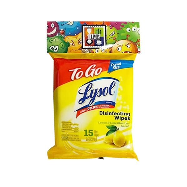 15 CT. LYSOL ON THE GO DISINFECTING WIPES