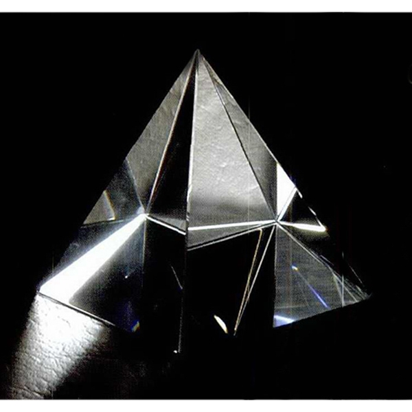 "2 3/8"" X 2 3/8"" X 2 3/4"" - Pyramid Shape Crystal Paperweight Photo"